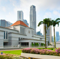Parliament building of Singapore