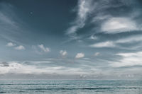 Dramatic grey sea and sky background template