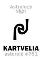 Astrology: asteroid KARTVELIA