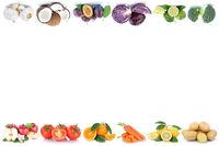 Obst und Gemüse Früchte Äpfel, Orangen Tomaten Essen Textfreiraum Copyspace