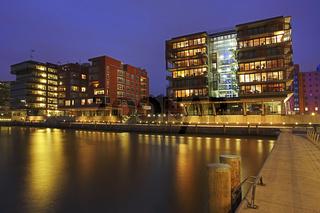 Hafencity und Speicherstadt am Hamburger Hafen, Deutschland, Hafencity and Old Store Houses at Hamburg Harbour, Germany