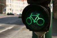 Grüne Radfahrerampel
