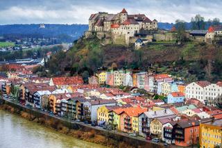 Burghausen, historical german town in Bavaria near Salzburg