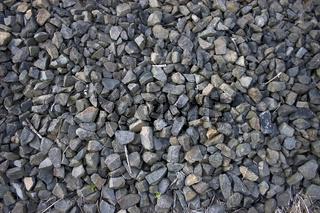 steine in gleisbett