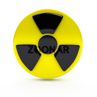 Radiation sign over white background