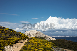 Capo Testa mit Blick auf Korsika