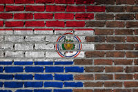 Brick wall texture - Flag of Paraguay