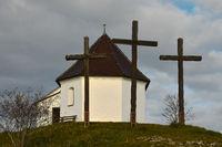 Salmendinger Kapelle auf dem Kornbuehl, Schwaebische Alb