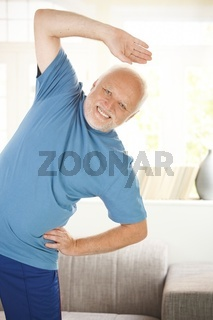 Cheerful senior doing sport