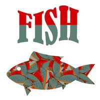 Fish Pattern Text