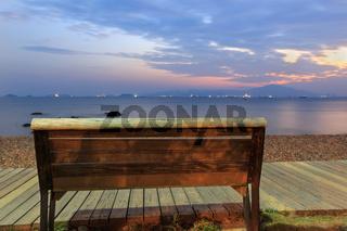 Wood Chair around seacoast