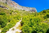 Cikola river dry canyon view