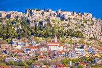 Town and fortress of Klis near Split view