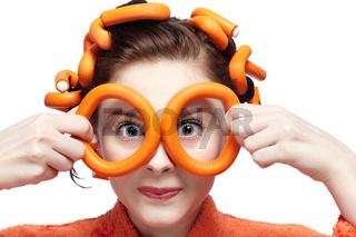 girl in orange