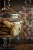 Oatmeal cookie in glass jar