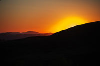 Beauty sunset in the mountains