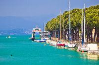 Lago di garda turquoise waterfront in Peschiera view