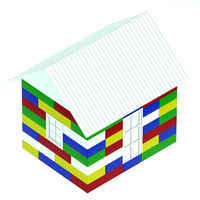 House made of colored children's blocks