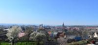 Turda town panorama