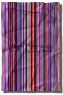 Zerknittertes Papier mit Streifenmuster