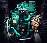 Close-up of boat motor