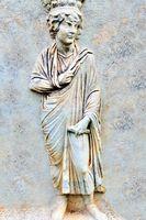 Darstellung antiker Mann in Marmor