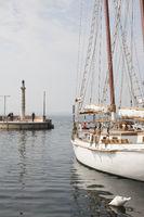 Altes traditionelles Segelboot