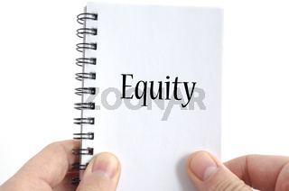Equity text concept