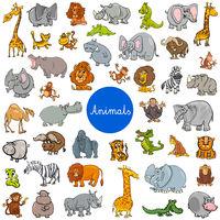 wild animal characters big set