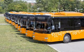 Public transportation new busses front