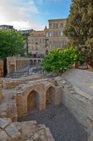 Old town in center of Baku city, Azerbaijan