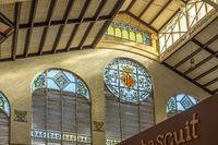 Art Nouveau Indoor Market, Valencia Old Town, Spain