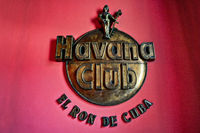 Havana, Cuba - December 12, 2016: Havana Club museum sign in the entrance of the Museo del Ron (Rum Museum) in Havana. In the Museum the visitors can learn about the history and making process of this Cuban rum.