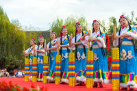 Lijiang Ethnic Minority Women Dancing Stage Pole