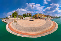 Garda lake waterfront of Lasize panoramic view