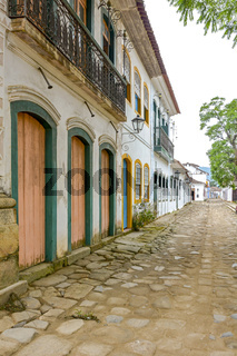 Paraty street and houses