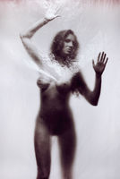 Silhouette of a naked woman