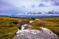 The flat tundra
