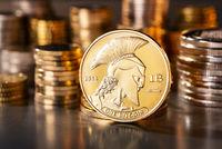 Titan Münze der Kryptowährung Bitcoin