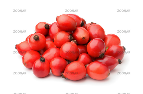 Pile of fresh rose hips