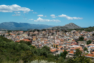 Blick auf Dorgali, Sardinien