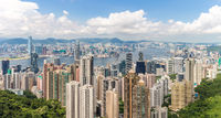 Panorama Hong Kong Skyline