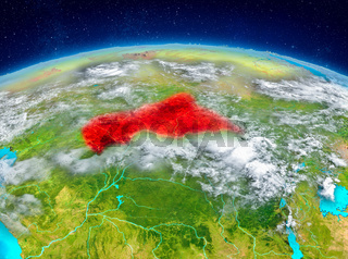Central Africa on Earth