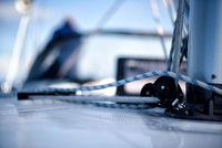 Leinen auf einer Segelyacht