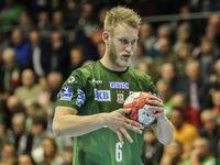 Matthias Musche (SC Magdeburg) beim DKB-Handball Punktspiel SC Magdeburg - Frisch Auf Göppingen am 22.02.2018 in Magdeburg