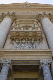 Detail of the Saint Peter Basilica in Vatican City Italy.