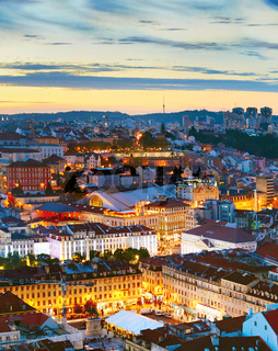 Lisbon at twilight, Portugal