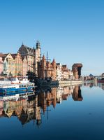 Riverfront bars and restaurants in Gdansk Poland