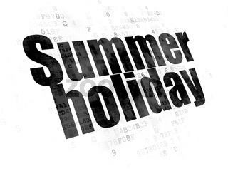 Tourism concept: Summer Holiday on Digital background