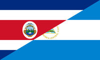 costa rica nicaragua flag